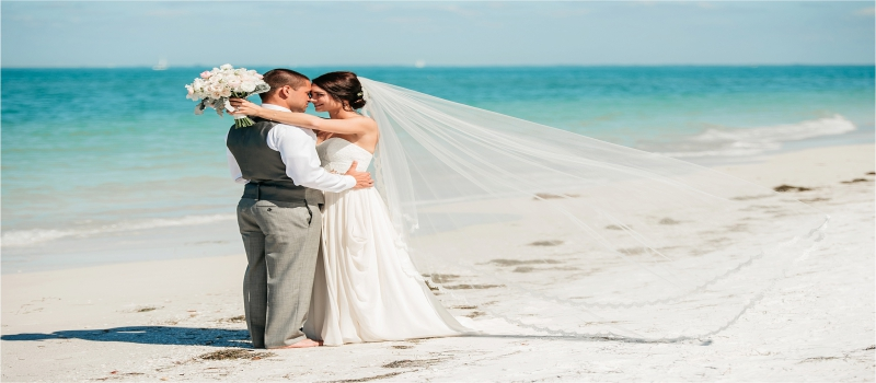 Choose some of these unique ideas to enhance your destination celebration on the sandy seashore